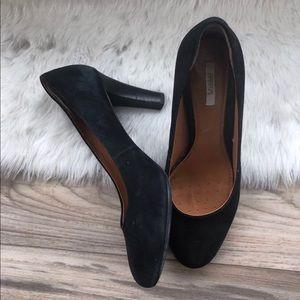 Geox respira annya pump black suede high heels